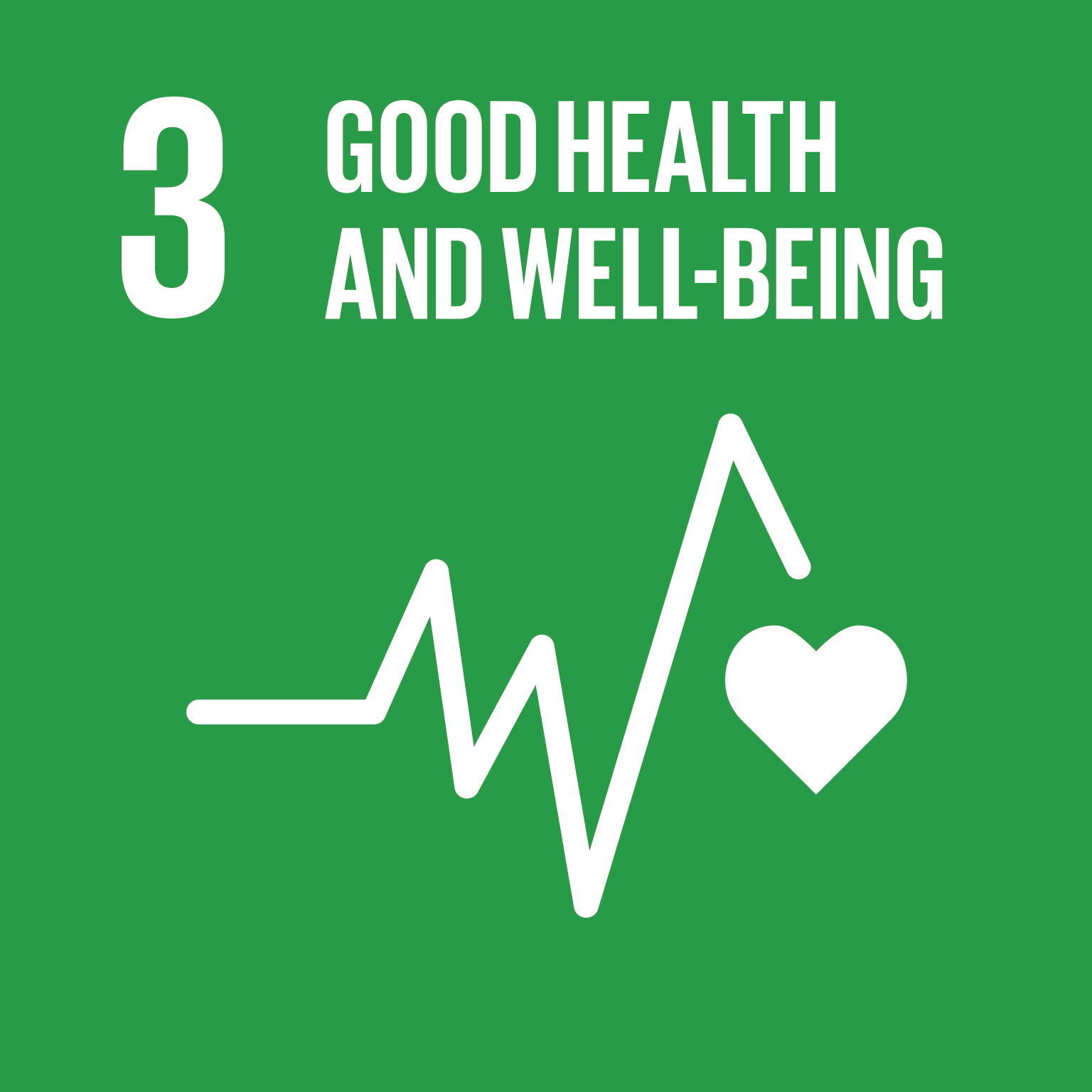 Good health and well-being logo.